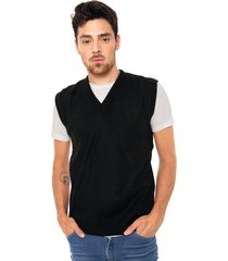 chaleco negro moni tricot