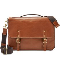 fossil men's defender leather portfolio briefcase