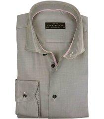 john miller overhemd ml7 tailored fit grijs