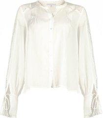 ajour blouse mila  wit