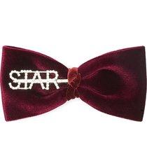 'star' velvet bow hair clip