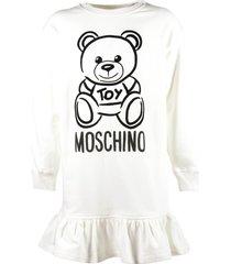 """teddy bear"" logo detail dress"