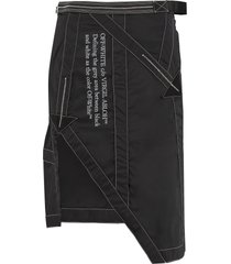 off-white techno fabric mini-skirt