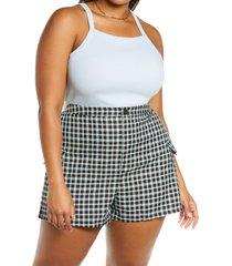 plus size women's bp. picot trim cotton blend rib bodysuit, size 4x - blue
