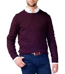 sweater cuello redondo burdeo arrow