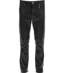 1017 alyx 9sm six pocket leather trousers