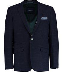 bos bright blue eight jacket slim fit 183038ei55bo/290 navy - bos bright blue colberts donkerblauw 71% polyester / 27% viscose / 2% elastaan - bos - -