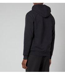 ami men's de coeur zipped hoodie - black - xl