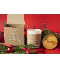 personalizowana świeca w pudełku na prezent