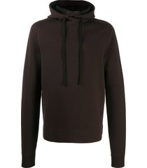 bottega veneta shawl neck hoodie - brown