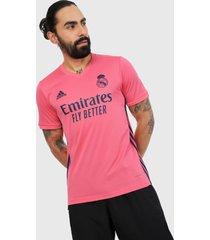 camiseta rosada adidas performance visitante real madrid 20/21