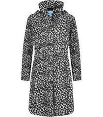 happyrainydays regenjas coat bernice cheetah black off white-xxxl