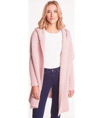 różowy sweter z kapturem aurel