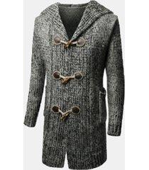 cappotto con cppuccio con jacquard
