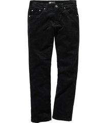 pantalone in velluto elasticizzato regular fit straight (nero) - bpc selection