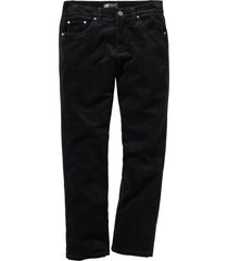 pantaloni in velluto elasticizzato regular fit straight (nero) - bpc selection