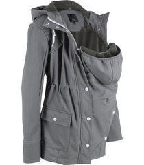 giacca prémaman in softshell con con inserto babywearing (grigio) - bpc bonprix collection