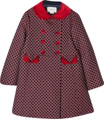 gucci blue and red coat