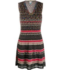 m missoni striped fine knit mini dress - black