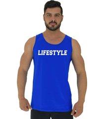 regata clássica masculina alto conceito lifestyle azul royal