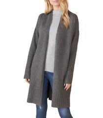 women's karen kane long cardigan, size x-large - grey
