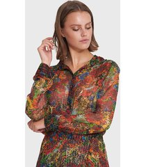 alix 201951495 ladies woven flower lurex blouse