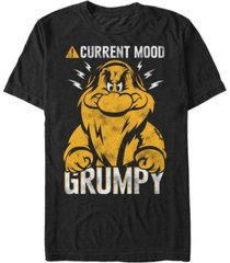 disney men's snow white currently grumpy short sleeve t-shirt