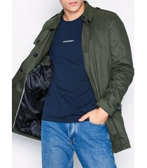 selected homme slhadams trench coat b jackor grön