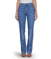 women's frame le italien high waist flare jeans, size 28 - blue