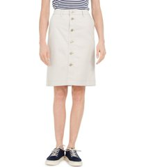 charter club denim button-front skirt, created for macy's