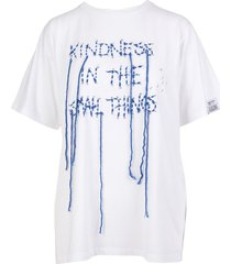 aira dream maker collection white woman t-shirt with front embroidery