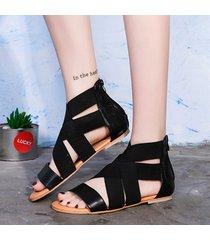 sandali piatti gladiatore tinta unita