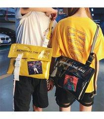 uomini e donne jelly hip-hop crossbody borsa coprispalle borsa
