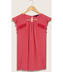 blusa con encaje rosado 4