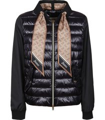 black technical fabric down jacket