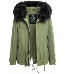 army mini parka with fur