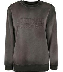 alberta ferretti vintage effect embossed logo sweatshirt