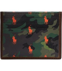 polo ralph lauren men's camo leather card case