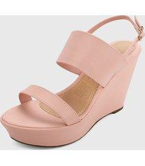 sandalia plataforma palo rosa zatz