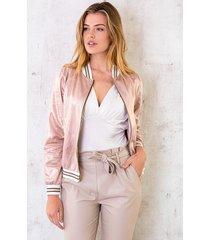bomber jacket metallic roze