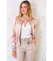 bomber jacket metallic roze