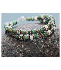 ceramic beaded bracelet, 'lachay' (peru)