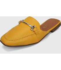 slipper amarillo-plateado zatz