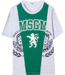 msgm gray /white t-shirt