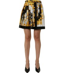 versace folded skirt