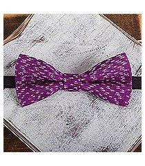 cotton bow tie, 'fuchsia charm' (mexico)