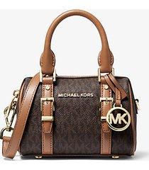 mk borsa a tracolla bedfordlegacy extra small con logo - marrone - michael kors