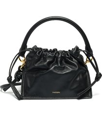 'mini bom' top handle and crossbody strap leather clutch