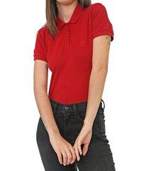 camisa polo colcci reta logo vermelha