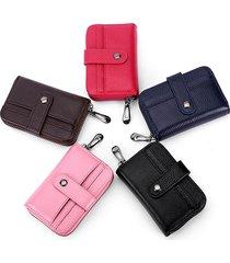 portafoglio porta carte di credito da uomo in pelle genuin per 12 donne